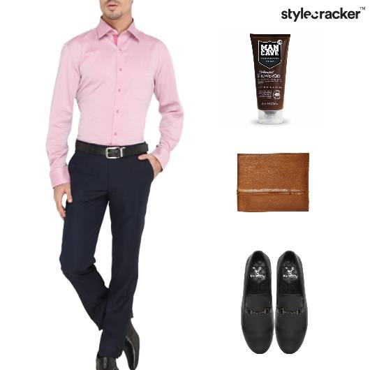 Formal Officewear Shirt Trousers Pink  - StyleCracker