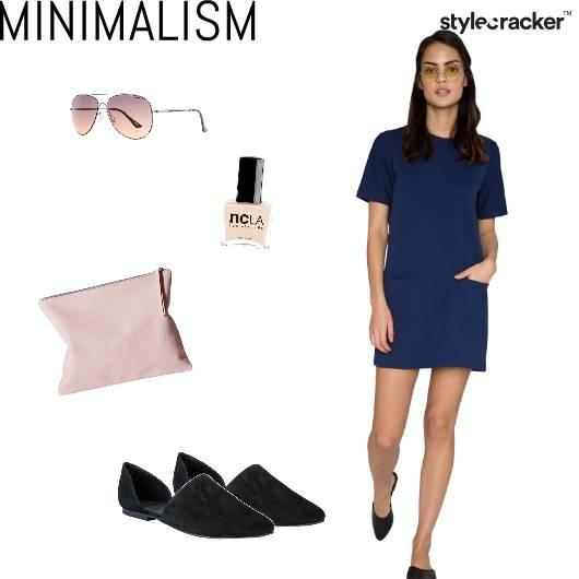 Casual Shiftdress Blue  - StyleCracker
