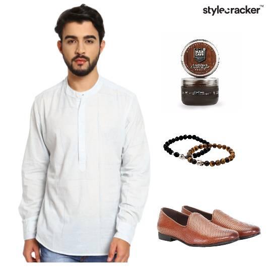 Shirtkurta Casual Semiindian White - StyleCracker