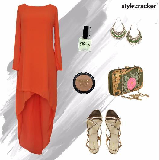 Indian Festive Heels Asymmetrical   - StyleCracker
