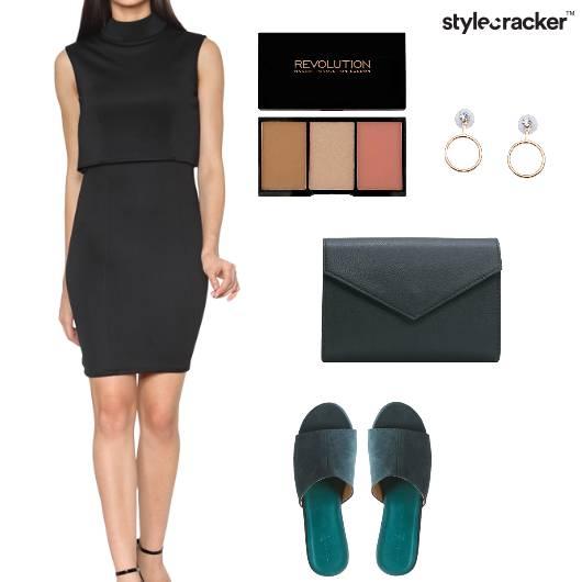 Dress Bodycon Mules EnvelopeClutch Contourkit  Party - StyleCracker