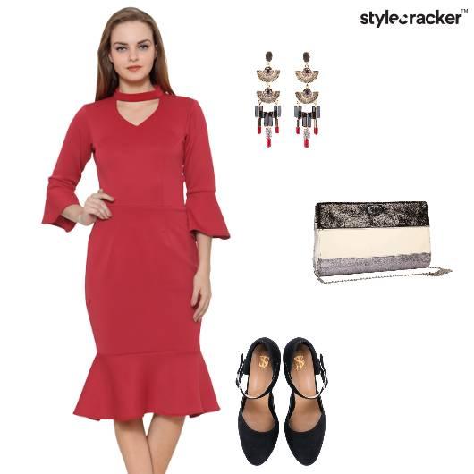 Flare Party December Red - StyleCracker