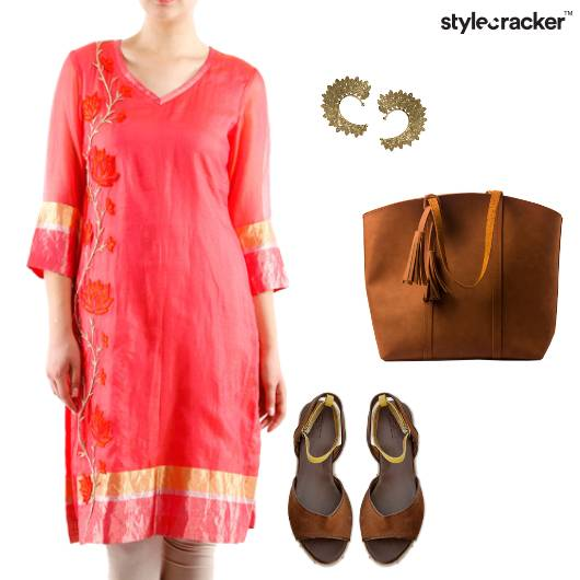 Indian Kurti Tote Casual  - StyleCracker