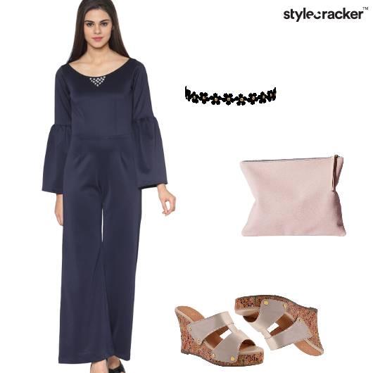 Jumpsuit Casual Clutch Wedges - StyleCracker