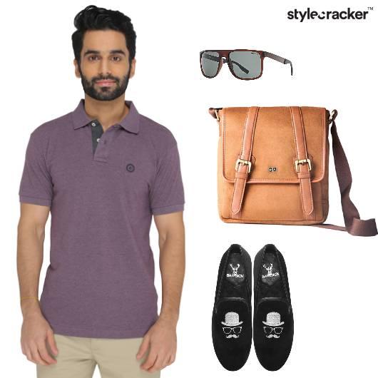 Tshirt Polo Loafers MessengerBag Casual - StyleCracker