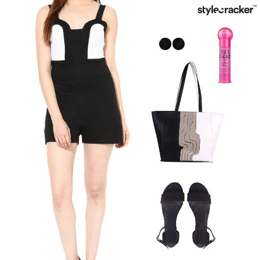 ColorBlock Playsuit ToteBag Flats Event - StyleCracker