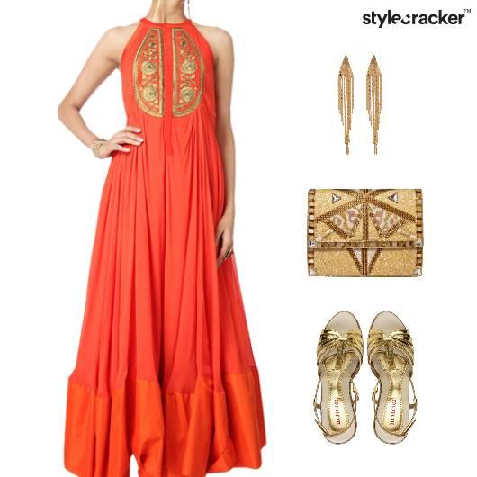 Indian Ethnic Festive Reception Anarkali - StyleCracker