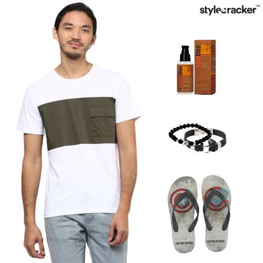 Casual Denim Bracelets Tee  - StyleCracker