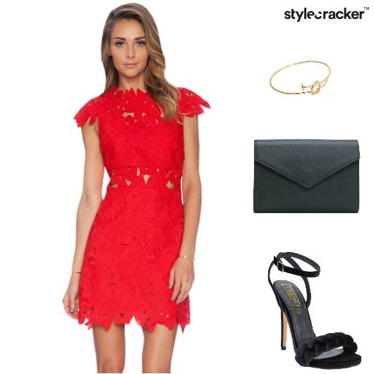 Red Lace Dinner Date - StyleCracker