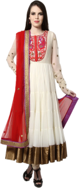 Karieshma Sarnaa - Red Long Tier Dori Kurta Set - StyleCracker