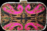 Karieshma Sarnaa - Black Paisley Patch Clutch - StyleCracker