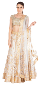 Tamanna Punjabi Kapoor - Lehenga with Gota and Mirror Work - StyleCracker
