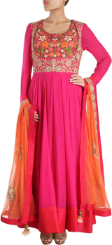 Karieshma Sarnaa - Hot Pink Kalidar Kurta Set - StyleCracker