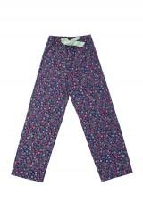 Prettysecrets Navy Pink Floral Lil-Bow Pajamas - StyleCracker