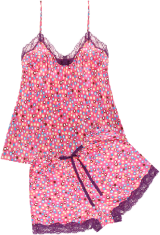 "PrettySecrets Fuchsia Cushy Candy Nap ""Ultimate Lounge"" Cami & Shorts Set - StyleCracker"