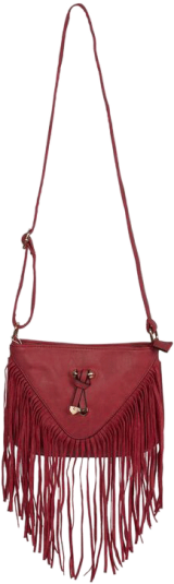 Red Bow Fringe Bag - StyleCracker
