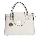 Flaptop Off-White Hand Held Bag - StyleCracker