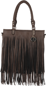 Brown Fringed Tassle Bag - StyleCracker
