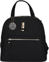 Black Lock Embellished Backpack - StyleCracker