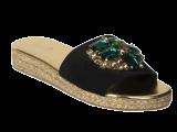 Rene Embelished Flats Black - StyleCracker