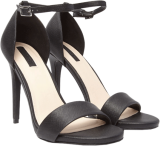 Metallic Ankle-Strap Pumps Black - StyleCracker