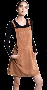 Honey Dip Dungaree Dress - StyleCracker