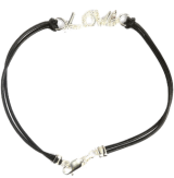 Love Black Cord Bracelet - StyleCracker