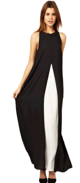 Black Two Tone Dress - StyleCracker