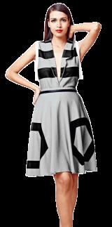 Striped Blazer (grey) - StyleCracker