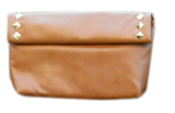 Two-Fold Tan Stud Sling - StyleCracker