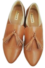 Tan Tassle Mocassins - StyleCracker