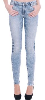 Acid Wash Skinny Jeans - StyleCracker
