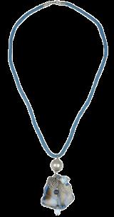Blue Cut-Stone Necklace - StyleCracker