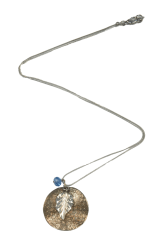 Hammered Disc Pendant Necklace - StyleCracker