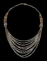 Yellow Bronze Tiered Necklace - StyleCracker