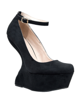 Qupid TING Heel Less Ankle Strap Pump - StyleCracker