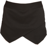 Black Asymetric Skort - StyleCracker