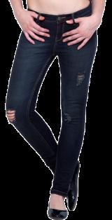 Ripped Skinny Jeans - Dark Wash - StyleCracker