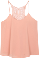 Peach Hollow Vest - StyleCracker