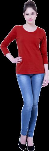 BASICS Red Rave Jersey Tee - StyleCracker