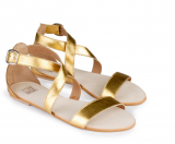 Eden Gold Straps  Sandals - StyleCracker