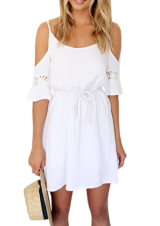 White Off Shoulder Dress - StyleCracker