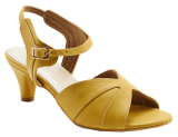 LIGHT OCHRE KITTEN HEELS - StyleCracker