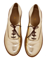 Champagne Gold Brogues - StyleCracker