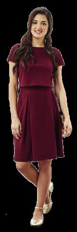 Oxblood Midi Skirt - StyleCracker