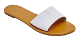 White Slider Flats - StyleCracker