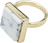 White Marble Stone Ring - StyleCracker