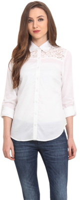 White Lace Shirt - StyleCracker