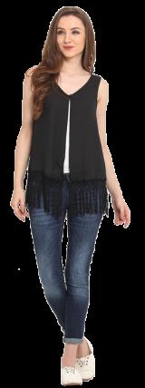 Lace Fringes Top - StyleCracker