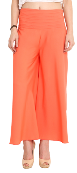 Orange Solid Palazzo Pants - StyleCracker